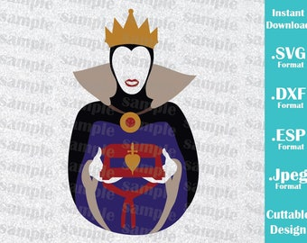 INSTANT DOWNLOAD SVG Disney Villains Inspired Evil Queen Cutting Machines Svg, Esp, Dxf and Jpeg Format Cricut Silhouette