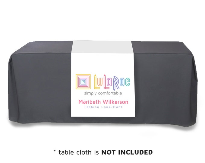 LuLaRoe Fashion Consultant Table Runner for your Boutique or Pop-up • LuLaRoe Sign Supply • Size 2x6