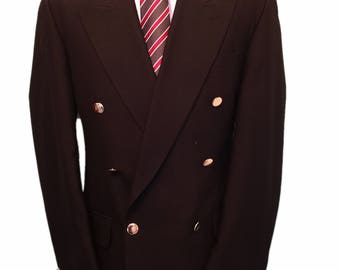 Wood Harris City of London 40 Regular Black Traditional Double Breasted Blazer with Brass Buttons