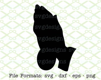 Praying Hands SVG, Dxf, Eps & Png. Digital Cut Files for Cricut, Silhouette; Religious Svg, Christian Svg, Praying Hands Silhouette, Easter