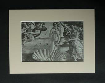 Print of the Birth of Venus Anadyomene, Sandro Botticelli Decor, Available Framed, Erotic Art Aphrodite Gift for Lover Greek Goddess of Love