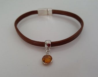 """""""Amber"""" leather strap"""
