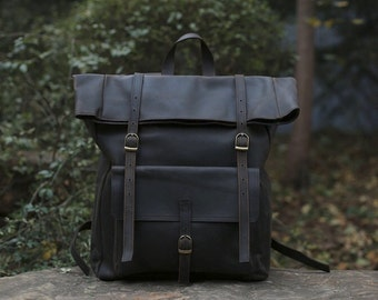 Leather Backpack/ Leather Rucksack/ Women's Backpack/ Men's Backpack in Brown by Native Leather Design