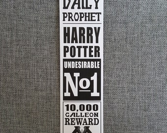 Daily Prophet Newsprint Bookmark