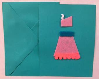 Felt halter dress card