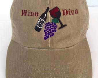 Wine Diva Embroidered Cap