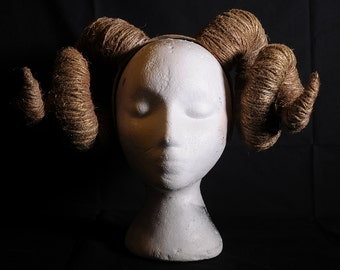 Headpiece   Faux Ram Horns with slightly shimmery look