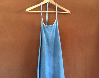 The perfect denim halter sundress