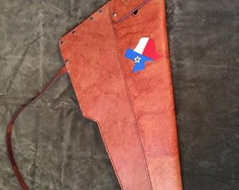 Custom hand tooled leather rifle scabbard