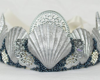 Silver Mermaid Crown