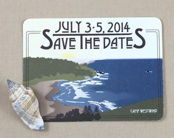 Oregon Coast Save the Date postcards - JA1