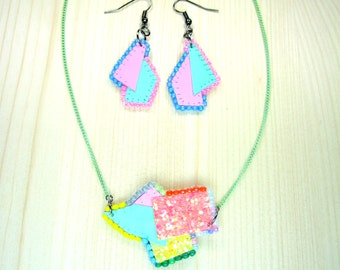 """Set necklace and earrings """"Beverly Hills"""""""