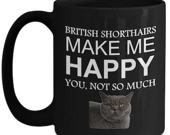 British blue cat mugs