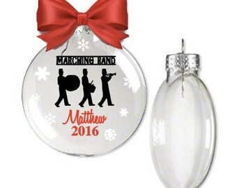 Marching Band Ornament, Music Ornament, Christmas Ornament, Band Ornament