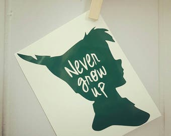 Peter Pan Car Decal Peter Pan Decal Peter Pan Sticker Disney Car Decal Disney Decal Disney Sticker Disney Peter Pan Car Decal