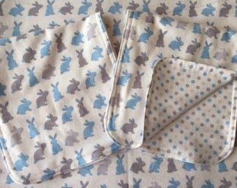 Bunnies Baby Blanket & Burp Cloth Set