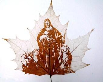 Leaf Carving For Jesus Christ