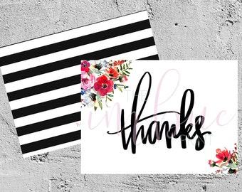 hand-lettered correspondence | thank you | digital download