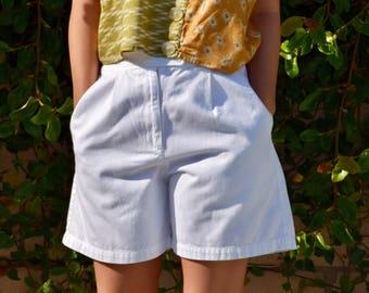 Vintage White Liz Claiborne Lizsport Cotton Shorts Size 2