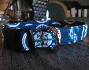 Seattle Mariners Dog Collar