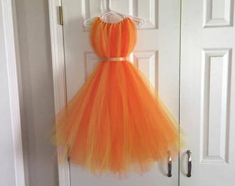 Orange Fairy - Tinkerbell Fawn Fairy - Orange Tulle Dress