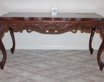 Vantage Solid Wood Hand carved Coffee Table