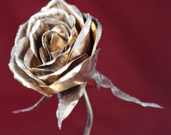 Hand-Forged Copper Rose