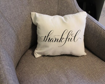 Thankful Small Decorative Pillow Fall Decor