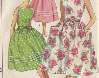 "1950s Vintage Sewing Pattern B34"" DRESS (R348)  Simplicity 3463"