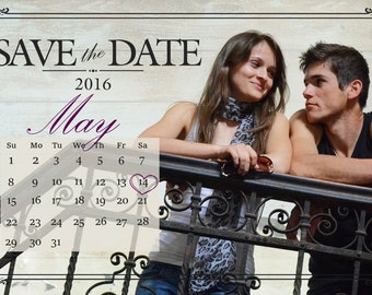 Rustic Save The Date, Postcard, Wedding, Custom