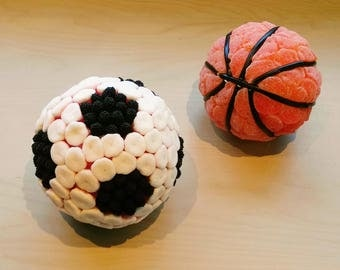 Balls football or basketball's sweets