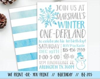 Boy Winter Onederland Invitation, Boy Onederland Birthday Invitation, Winter First Birthday Invitation, Onederland Party, Boy Onederland