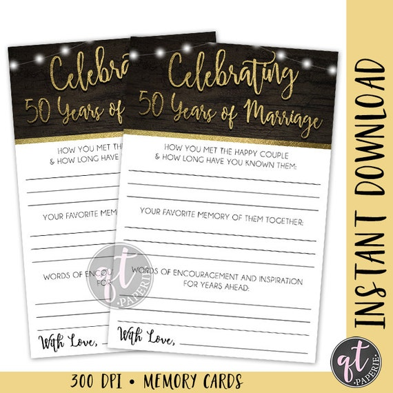 Anniversary Party Printable 50th Wedding Anniversary Party