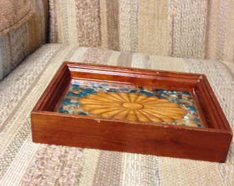 Re-Done It wood rectangular tray
