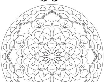 "Printable Coloring Page - Mandala ""Passion"""