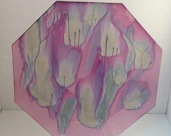 Rueven Art Glass Large Octagonal Plate