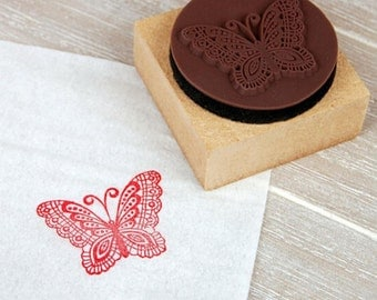 Butterfly wooden stamp