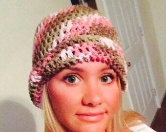 Teen's/women's pink camo hat