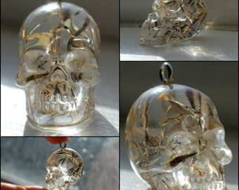 Skull Resin Flower pendant