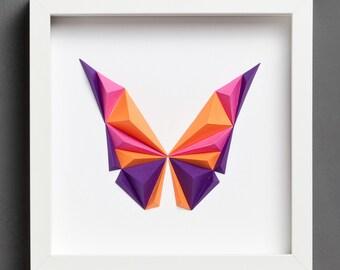 Paper Art: Purple Butterfly