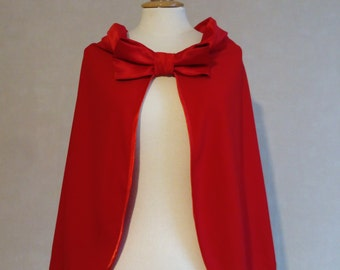bridal cape , red cape , bridal capelet, Cape red, cape colored