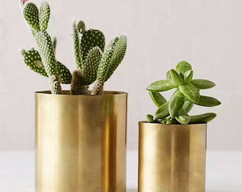 Mini Brass Planter - Succulent Cacti Terrarium Gold Pot