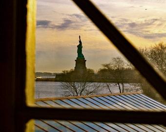 """16""""x20"""" Canvas From Ellis Island"""