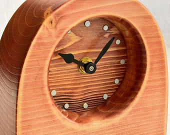 Recycled wood clock CL187