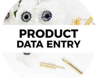 Product Data Entry for Online Shopping Cart