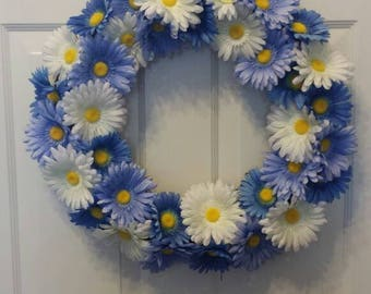 Daisy wreath / spring wreath / summer wreath / front door wreath / holiday wreath / door wreath / Easter wreath