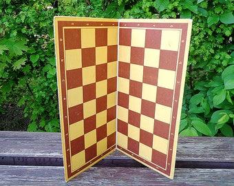 Soviet vintage chess cardboard // carton chess board USSR