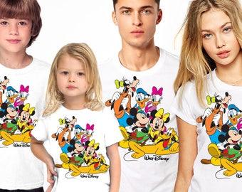 Disney Family Shirts, Donald and Daisy Duck, Matching Family Disney Shirts, Personalized Disney Shirts for Family, Family Shirts