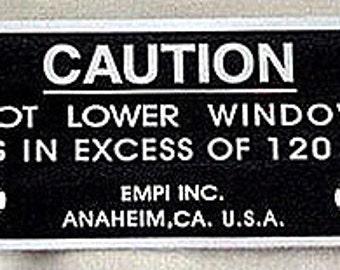 Vintage Empi Caution Sticker VW Volkswagen