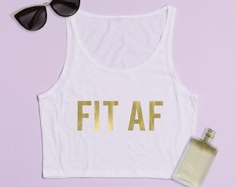 Free Shipping! Fit AF Ladies Crop Top Tank, Cropped Top, Crop Top, Cropped Shirt, Cropped Tee, Graphic Tee